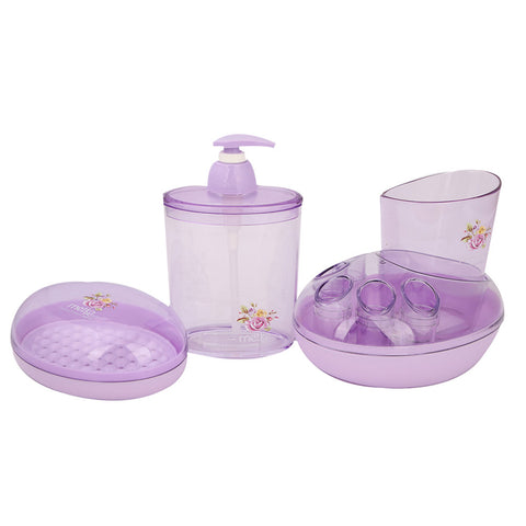 Bathroom Toiletries Set 4 Pcs 6212 - Purple