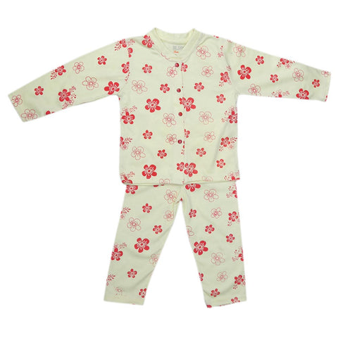 Girls Sleeping Suit - Lemon