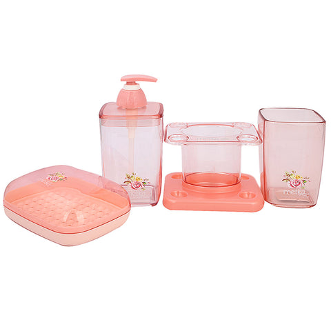 Bathroom Toiletries Set 4 Pcs 6206 - Pink