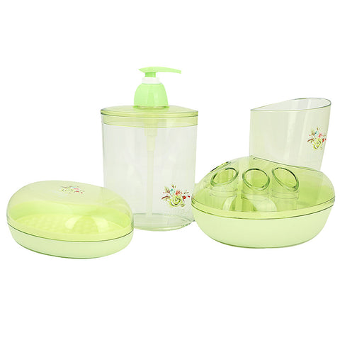 Bathroom Toiletries Set 4 Pcs 6212 - Green