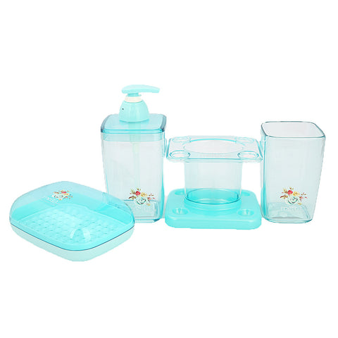 Bathroom Toiletries Set 4 Pcs 6206 - Cyan