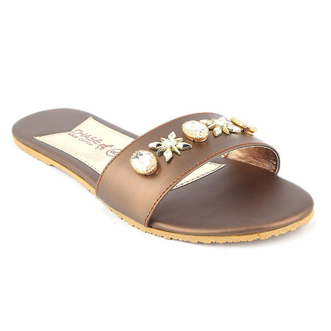 Women's Slipper (I 02) - Brown