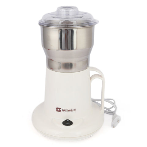 Sayona Coffee Grinder (SCG-144) - White