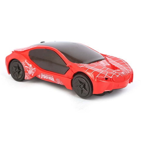 Battery Operated Spiderman Car - Red