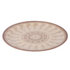 Melamine Flat Plate - Brown