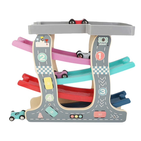 Wooden Luxury Gliding Car Set For Kid - Multi