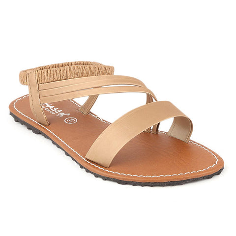 Girls Slipper  (711 A) - Fawn