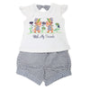 Girls Suits-Short Suits 117 SML - Blue