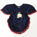 Girls Butterfly Top - Navy Blue