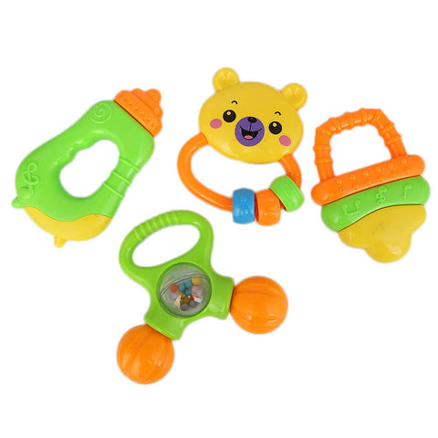 Rattle Toy Set 4 Pcs For Kid - Multi