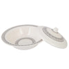 Melamine Bowl With Lid - Grey