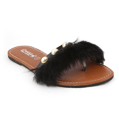 Girls Slipper (001-A) - Black