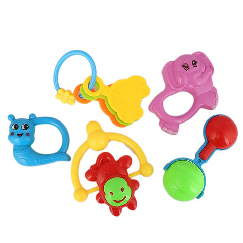 Rattle Toy Set 5 Pcs For Kid - Multi
