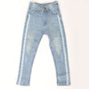 Girls Denim Pant Side Tape - Light Blue