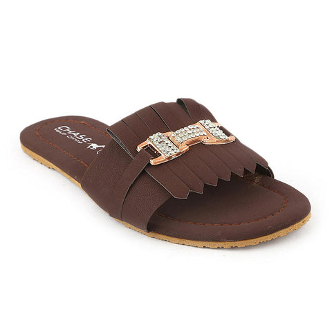 Women's Slipper (I 01) - Brown