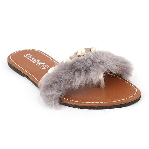 Girls Slipper (001) - Grey