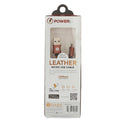 PowerLine Leather USB Charging Cable - Brown