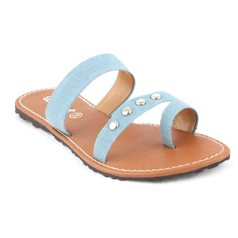 Girls Slippers  (666) - Light Blue