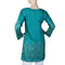 Women's Cotton Plain Kurti - Green