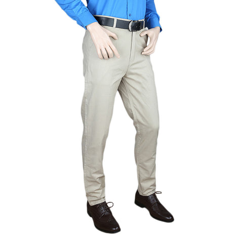Men's Casual Cotton Pant - Fawn