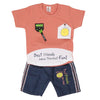 Newborn Boys Half Sleeves Suit - Peach