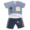 Newborn Boys Half Sleeves Suit - Blue