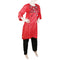 Women's Embroidered 2 Piece Suit - Red
