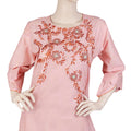 Women's Embroidered 2 Piece Suit - Peach