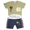 Newborn Boys Half Sleeves Suit - Green