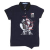 Boys Half Sleeves Round Neck T-Shirt - Navy Blue