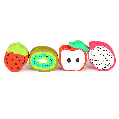 Fruit Eraser 4 Piece Set - Multi