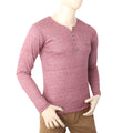 Men's Full Sleeves Y-Stud T-Shirt - Maroon