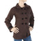 Women's Fancy Fleece Coat - Coffee