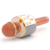 Handheld KTV Portable Mic Speaker Wireless Microphone - WS-858 - Rose Golden
