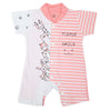 Newborn Unisex Half Sleeves Rompers 2008 - Pink