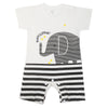 Newborn Unisex Half Sleeves Rompers 2007 - White