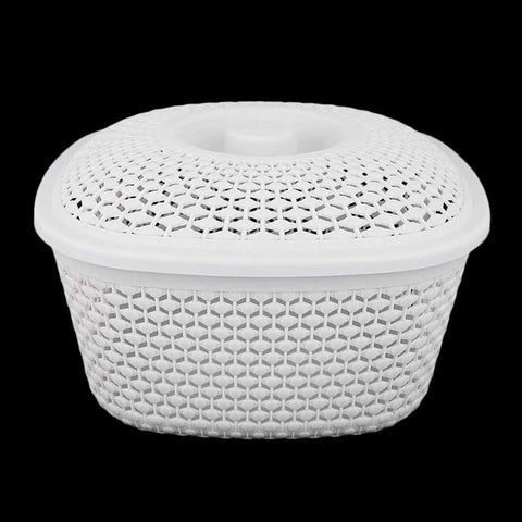 Multipurpose Basket With Cover - Grey
