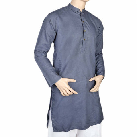 Eminent Fancy Trim Fit Kurta For Men - Navy Blue