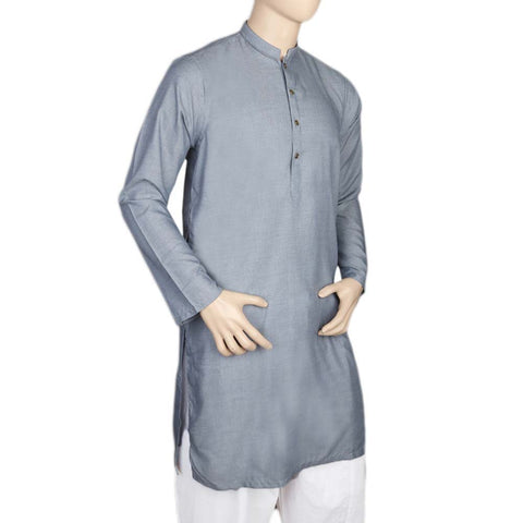 Eminent Fancy Trim Fit Kurta For Men - Blue