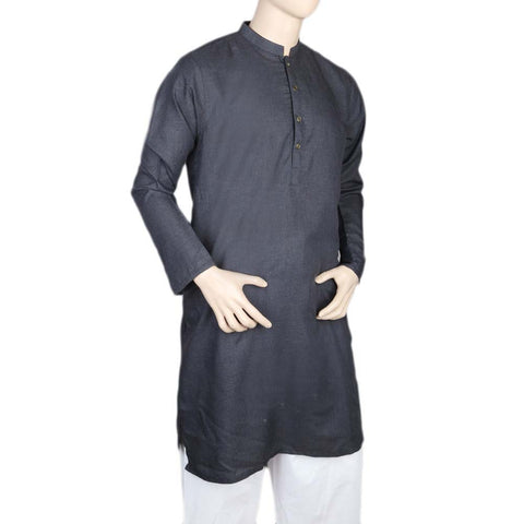 Eminent Fancy Trim Fit Kurta For Men - Dark Purple