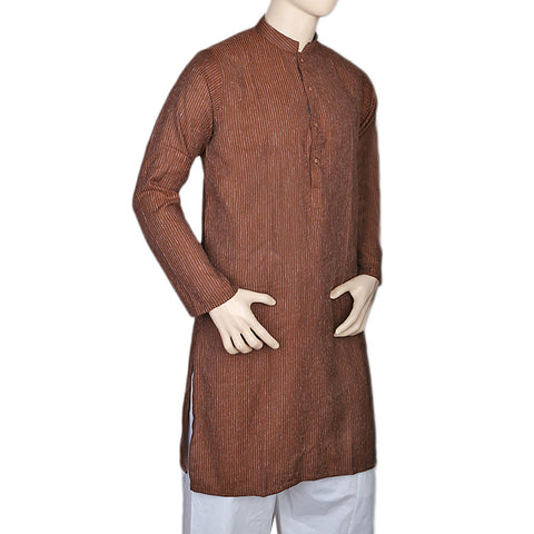 Mashriq Basic Kurta For Men - Dark Brown