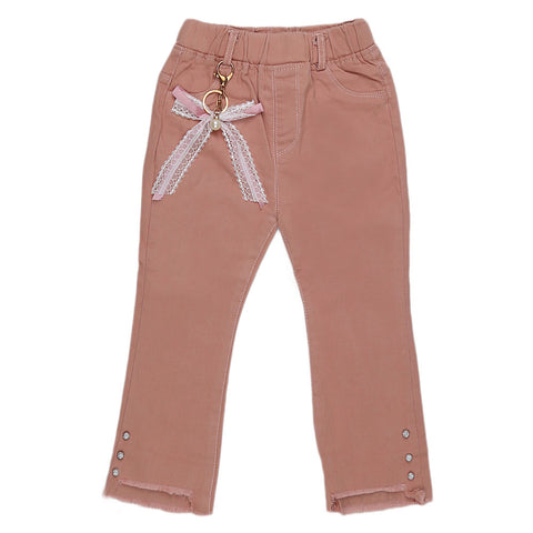 Girls Pant - Peach