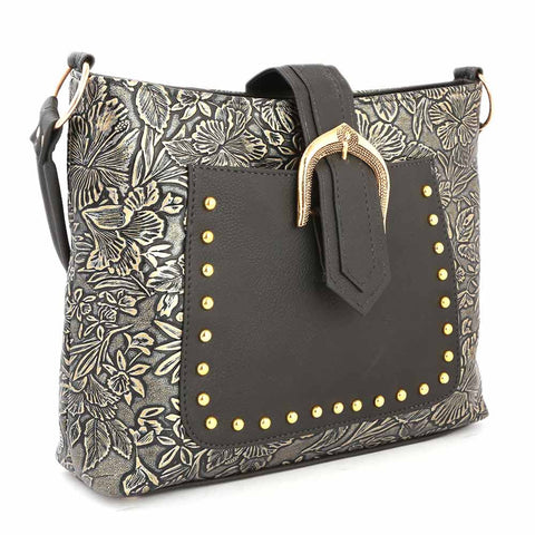 Women's Shoulder Bag (K-1121) - Black