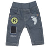 Newborn Boys Denim Pant - Steel Blue