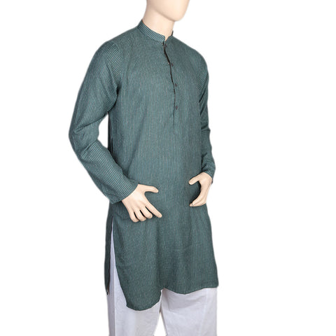 Mashriq Basic Kurta For Men - Sea Green