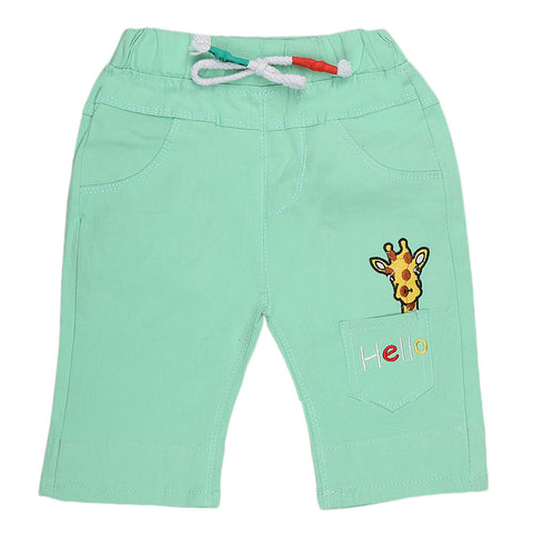 Boys Cotton Bermuda Short - Light Green