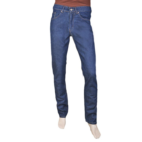 Men's Basic Rigid Denim Pant - Dark Blue