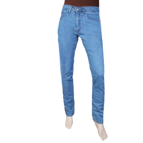 Men's Basic Rigid Denim Pant - Light Blue