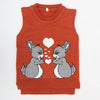 Boys Sleeveless Sweater - Rust