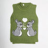 Boys Sleeveless Sweater - Green
